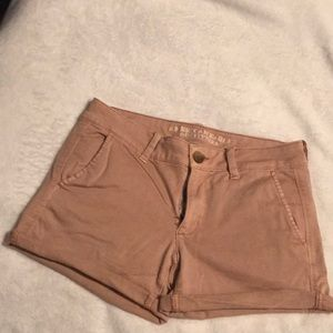 American Eagle Mauve Pink Twill Shorts Worn Once